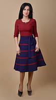 Ультра модное платье с полосатой юбкой