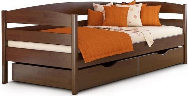 Кровать детская Нота Плюс орех тёмный тм Эстелла.