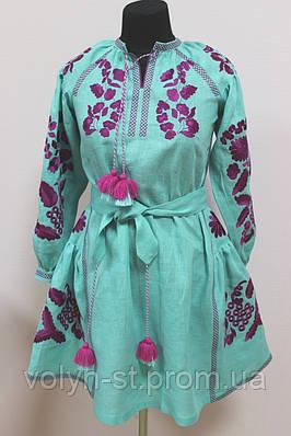 Платье вышитое детское с длинным рукавом