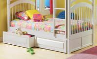 Подростковая кровать Артемон (сосна, с ящиками, с дополнительным бортиком у стены)