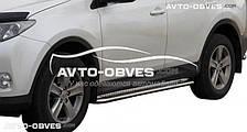 Подножки нержавейка Toyota Rav4 2016-…, Ø 42 \ 51 \ 60 мм