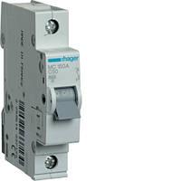 Модульный автоматический выключатель 1P 6кА С-50A 1М Hager