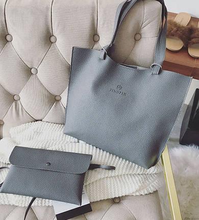 Большая стильная сумка с клатчем JingPin 2в1, фото 2
