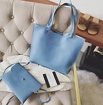 Большая стильная сумка с клатчем JingPin 2в1, фото 3