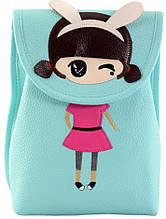 Детский рюкзак из экокожи TRAUM 7006-31 бирюзовый 4 л