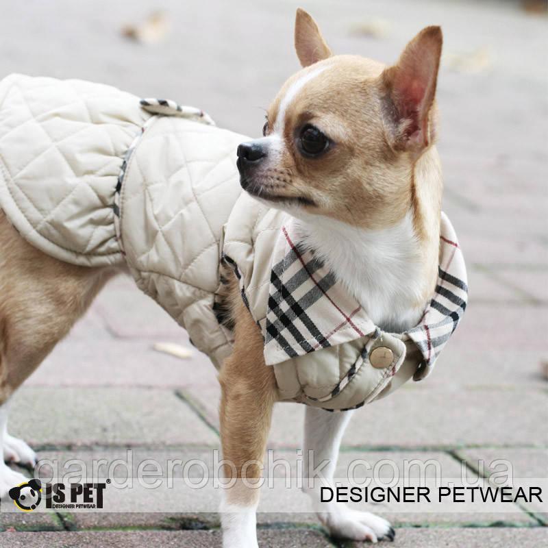 """Пальто, платье стеганное теплое """"Леди"""" для собак Is Pet. Одежда для собак"""