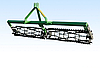 Каток для культиватора на подшипниках (2.1 м., однорядный,1 секция) Bart.