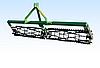 Каток для культиватора на подшипниках (2.5 м., однорядный,2 секция) Bart.