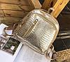 Стильный лакированный рюкзак под кожу рептилии, фото 2