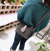 Элегантный красочные сумки с брелком помпоном, фото 3