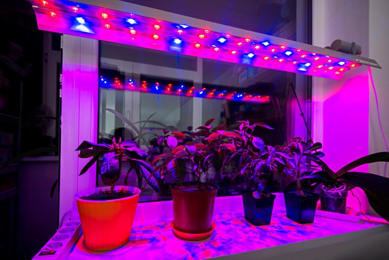 Фито LED Светильник линейный 90Вт ФАР (для овощей) 1150мм 51led/m (красный/синий-9/8) IP67 220V