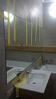 Зеркало над ванной и умывальником на заказ