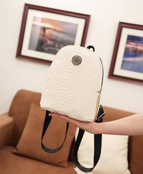 Стильный городской рюкзак под кожу рептилии, фото 2
