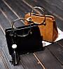 Модная каркасная сумка с ручками кольцами и мраморным оттенком, фото 4