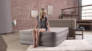 Надувная кровать Intex 64470 со встроенным насосом 220В, 152х203х51см, фото 2