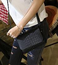 Милая сумка сундучок с бантиком под крокодил, фото 2