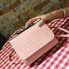 Мила сумка скринька з бантиком під крокодил, фото 4