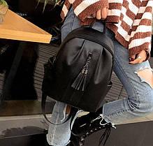 Элегантный городской рюкзак с молнией и кисточками, фото 2