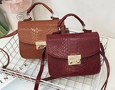 Элегантные сумки сундучки под кожу рептилии, фото 3