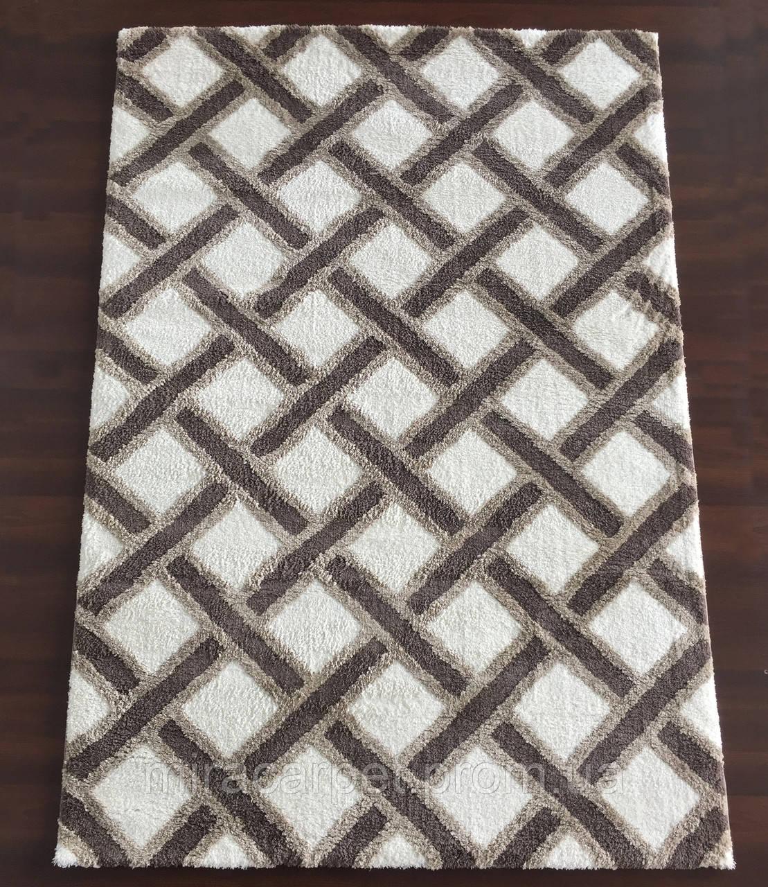Ковер ворсистый ромбиками, ковер на пол, ковры в зал
