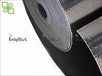 Тепло-звукоизоляция для стен и потолка ЛЮКС 4 мм самоклеющаяся фольгированная Evaplast пенополиэтилен ППЭ