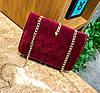 Элегантная бархатная \ велюровая сумка клатч на цепочке, фото 3