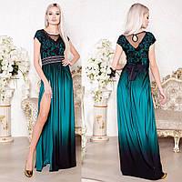 """Элегантное вечернее, выпускное платье с разрезом """"Минова"""""""