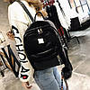 Большой бархатный \ велюровый рюкзак с помпоном для модных девушек, фото 4