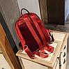 Большой бархатный \ велюровый рюкзак с помпоном для модных девушек, фото 5