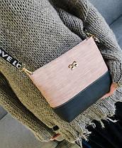 """Милая двухцветная сумка клатч с бантиком """"Love"""", фото 3"""
