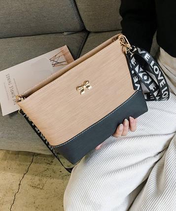 """Милая двухцветная сумка клатч с бантиком """"Love"""", фото 2"""