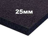 Резиновый мат черный 1200х1800(1750)*25мм