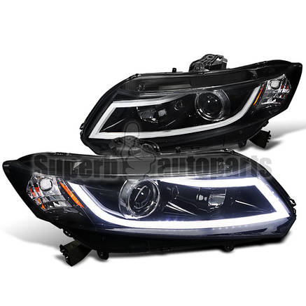 Штатная для Honda Civic LED головная оптика JY type 2012 по 2013, фото 2