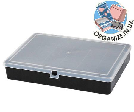 Органайзер для мелочей 204х141х34 мм с крышкой (черный)