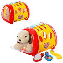 """Игровой набор с собачкой - Салон для животных """"Парикмахер"""", собачка 15см, расческа 2 шт, зеркало, 2 цвета, 281"""