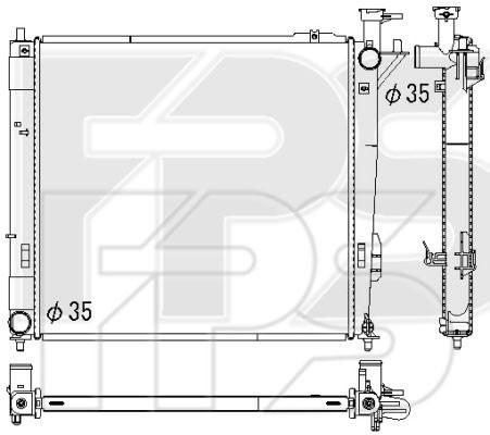 Радиатор охлаждения двигателя Hyundai Santa Fe (12-15) 2.2 CRDi механика (KOYORAD)