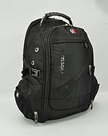 Рюкзак городской SwissGear 8810 черный, выход для USB, наушников, дождевик