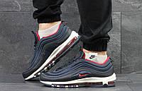 Кроссовки мужские Nike Air Max 97 (темно-синие с белым), ТОП-реплика, фото 1