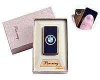 """USB зажигалка в подарочной упаковке """"BMW"""" (Спираль накаливания) №4809-5"""