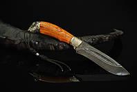 """Нож охотничий ручной работы """"Буйвол"""", дамасск (наличие уточняйте)"""