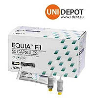 Копия ЭКВИЯ Фил капсулы ( EQUIA FIL capsules ) стеклоиономерный цемент в капсулах 50 шт.