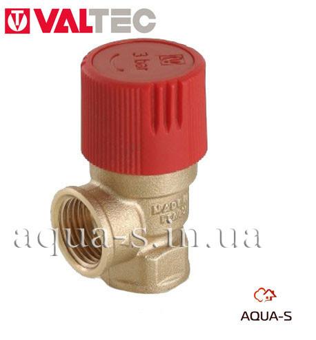 """Клапан предохранительный Valtec DN 1/2""""x6 бар (защита от превышения давления) VT.0490"""