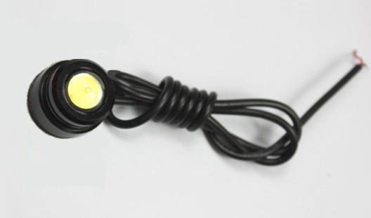 Светодиодный линзованный мини светильник 12V 3W с накладной черный Код.58113