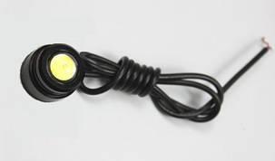 Светодиодный линзованный мини светильник 12V 3W с накладной черный Код.58113, фото 2