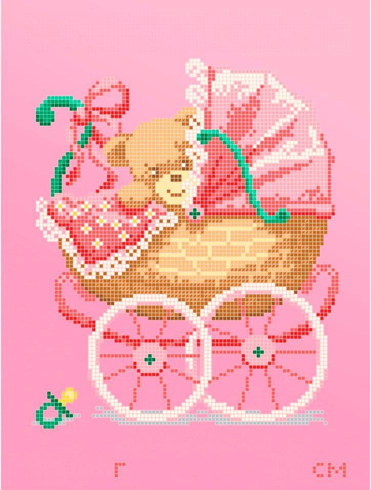 Схема для вишивки та вишивання бісером Бисерок «Метрика для дівчинки» (A4) 20x25 (ЧВ-3427 Р  (10))