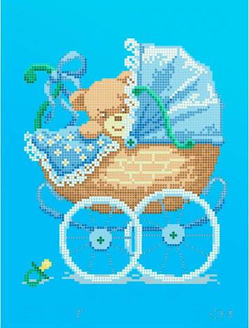 Схема для вишивки та вишивання бісером Бисерок «Метрика для хлопчика» (A4)  20x25 beb6999652545