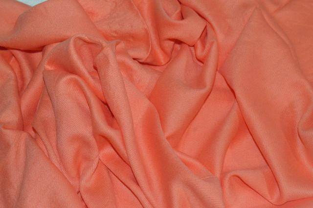 Палантин из кашемира однотонный персиковый Фото 3