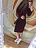 Платье женское Футляр весна-осень (цвет бордо) СП