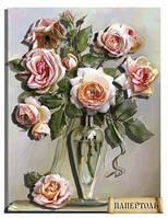 Набор картины из бумаги (папертоль) Букет роз в вазе PT150152