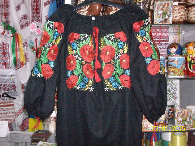 Женская вышиванка ,лен, фото 2